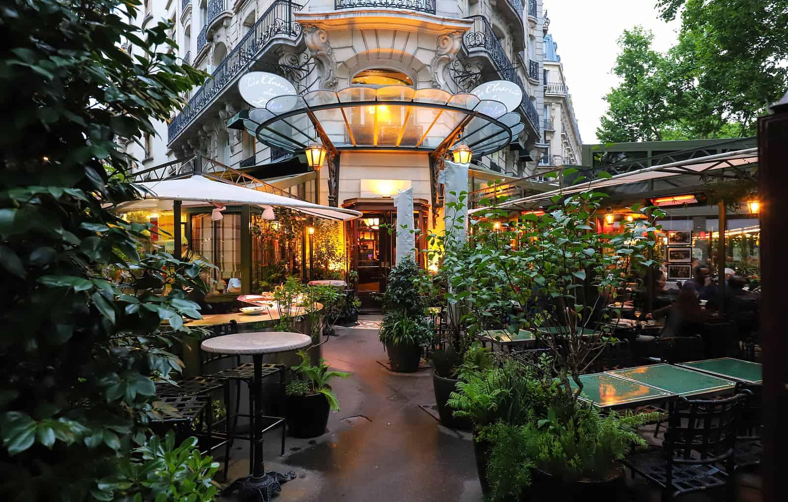 The ethereal beauty of Paris' notable, La Closerie des Lilas.