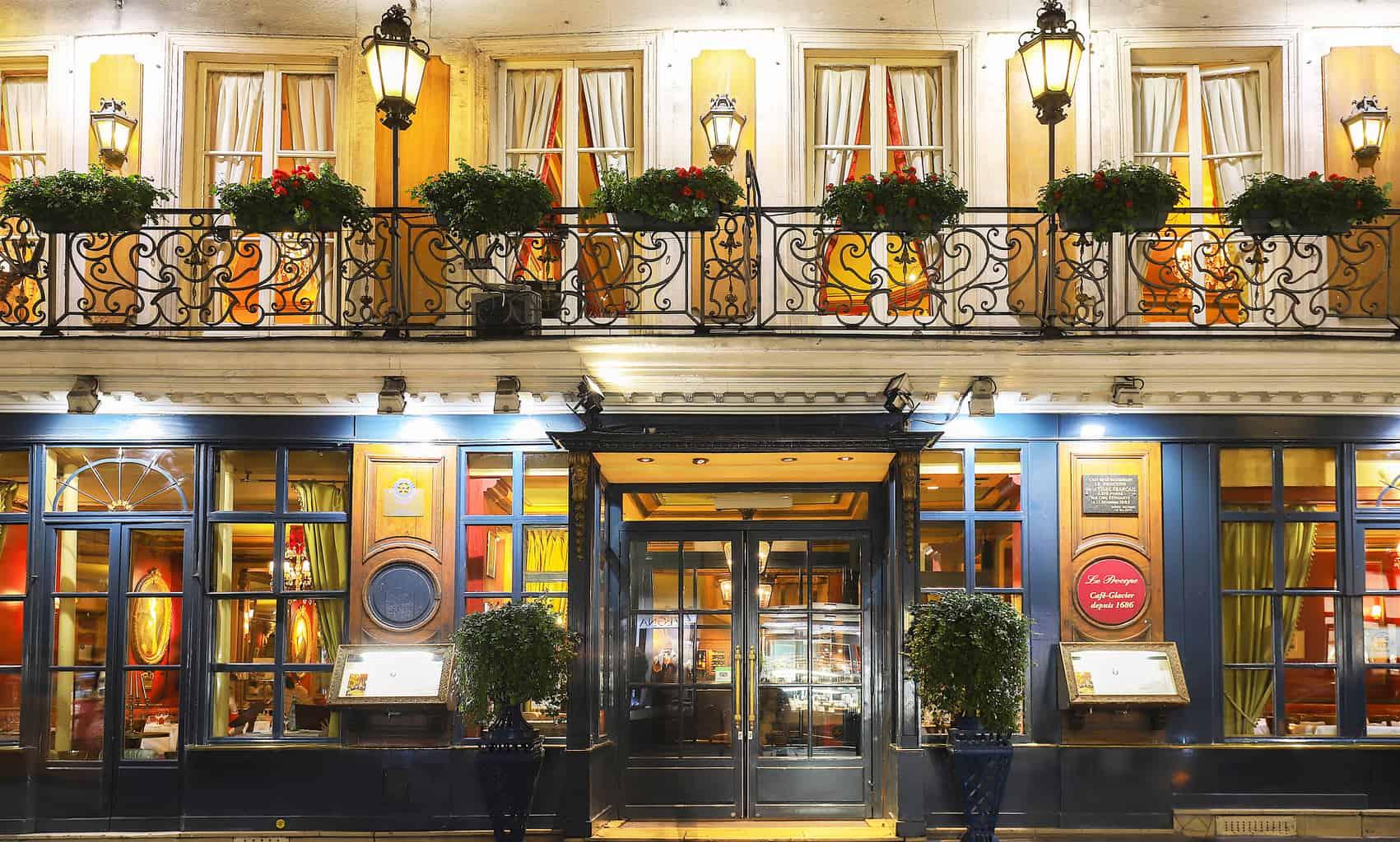 The historic beauty of Paris' oldest cafe, Le Procope.