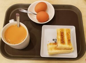 For breakfast, definitely stop by Toastbox and get the Kaya toast which is toast with butter and coconut jam.
