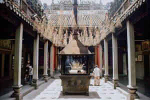 The beauty of Chùa bà thiên hậu temple in Ho Chi Minh City.