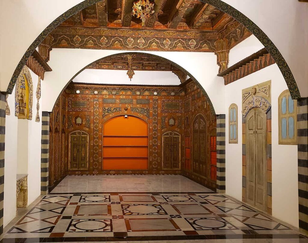 The historic beauty of the fully reconstructed Ottoman Syrian Room in the Islamic Arts Musem.