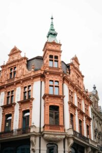 Some of the charming, historic architecture that you'll find in Leipzig, Germany.