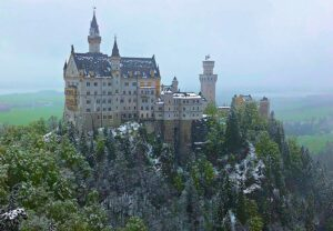 The picture-perfect, fairytale beauty of Neuschwanstein Castle in Germany.