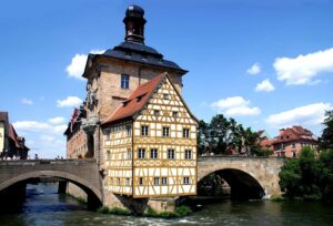 The exquisite beauty of Bamberg's town hall makes this one of the many amazing, Germany places to visit.