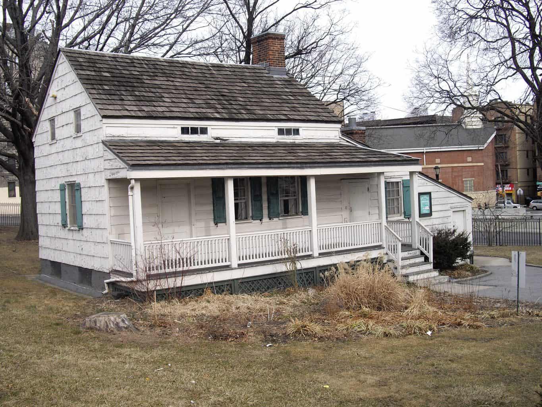 White exterior of the Edgar Allen Poe House
