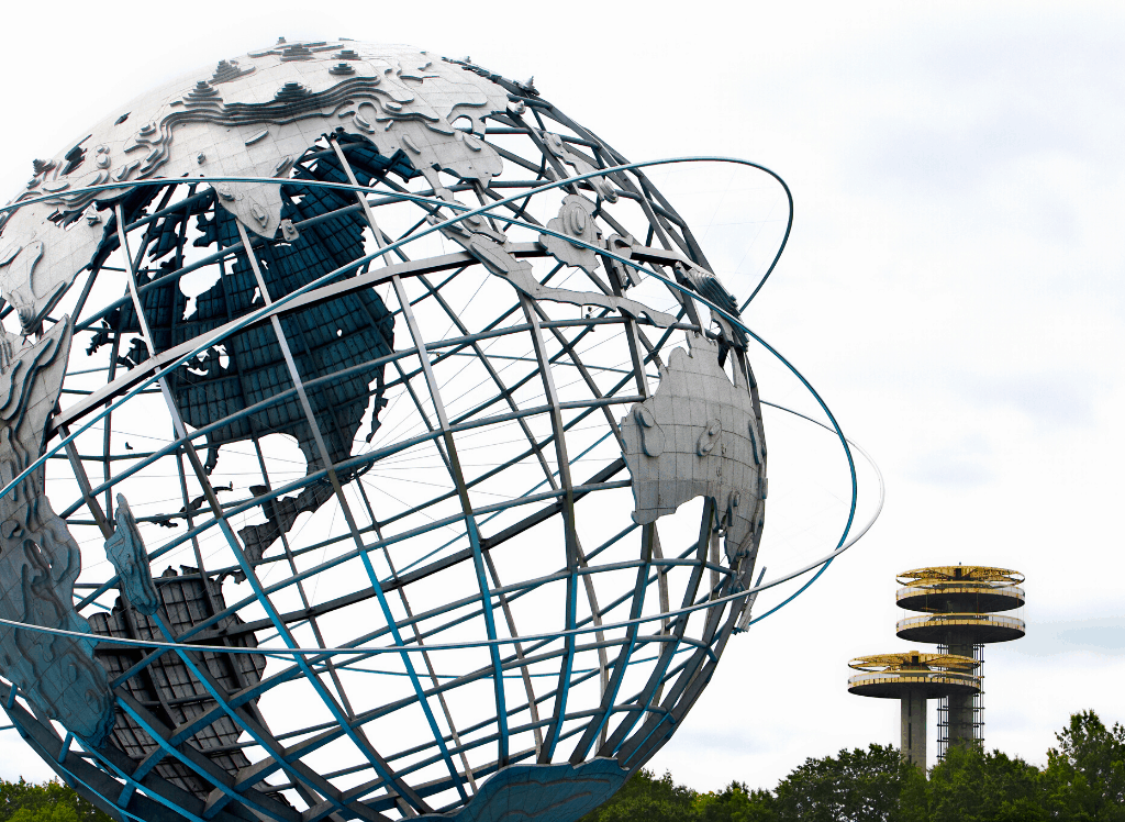 The Unisphere in Flushing Meadows Park in Queens, NY.
