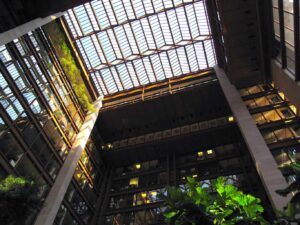 One of the most unusual things to do in NYC is to visit the tropical rainforest that can be found inside the expansive atrium of the Ford Foundation Building in New York City.