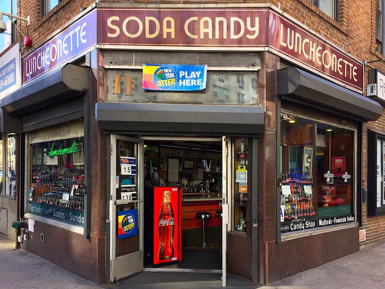 exterior of Lexington candy shop