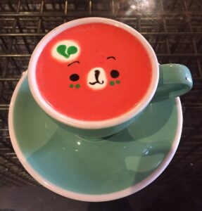 One of my favorite unusual things to do in New York City is to grab a delicious, and super cute, tea latte from Sweet Moment.