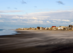 Located in Queens, Rockaway Beach is a beautiful place to go surfing in the summer.