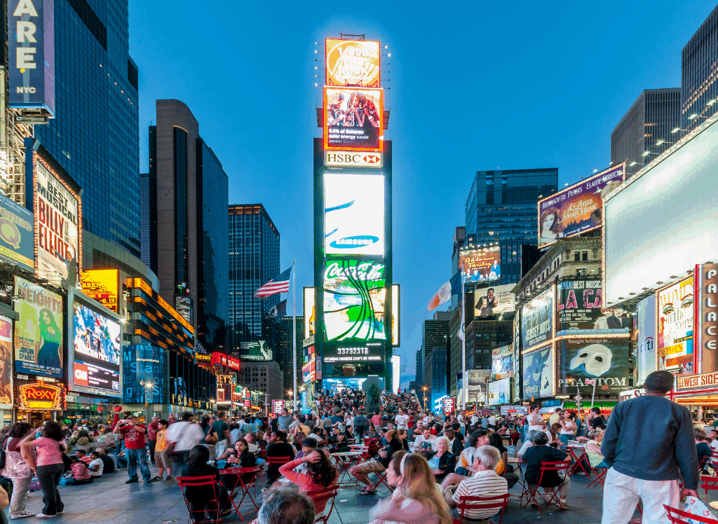 The bright lights of Times Square make it the perfect place to do a bit of night photography.