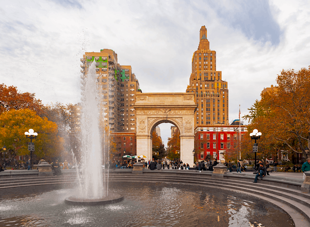Washington Square Park is an amazing NYC photography location since you can get a shot of the Empire State Building through the Arch here.