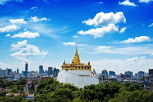 A beautiful view of Bangkok's legendary, Golden Mount.