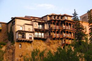 The enchanting, Casas Colgantes (Hanging Houses) pf Cuenca, Spain.