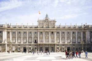 The iconic, Royal Palace in Spain's capital city of Madrid.