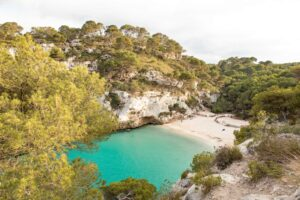 One of the secluded beaches that you'll find on the beautiful Spanish island of Menorca.