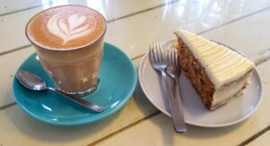 Some of the delicious coffee and cakes that you'll find at Marchant's Lane in Kuala Lumpur.