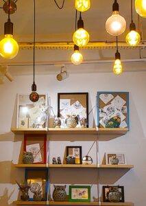 Some of the quaint, owl-inspired decor you'll find at The Owls Cafe in Kuala Lumpur, Malaysia.
