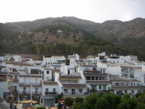 The charming, mountainside town of Mijas, Spain.