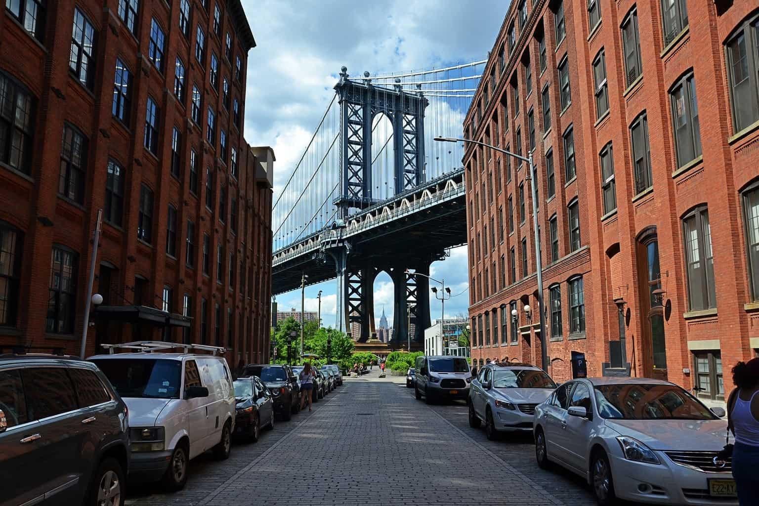 The Manhattan Bridge in DUMBO