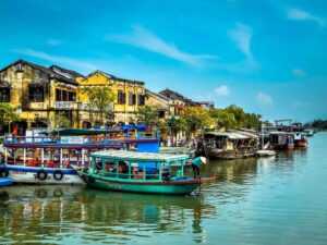 The quaint, old-world charm of Hoi An's historic, city center. A perfect spot to do some Vietnam solo travel.
