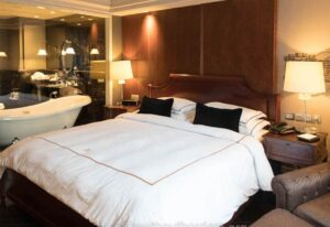 One of the many plush, well-appointed rooms that you'll find at the Hotel Muse Bangkok.