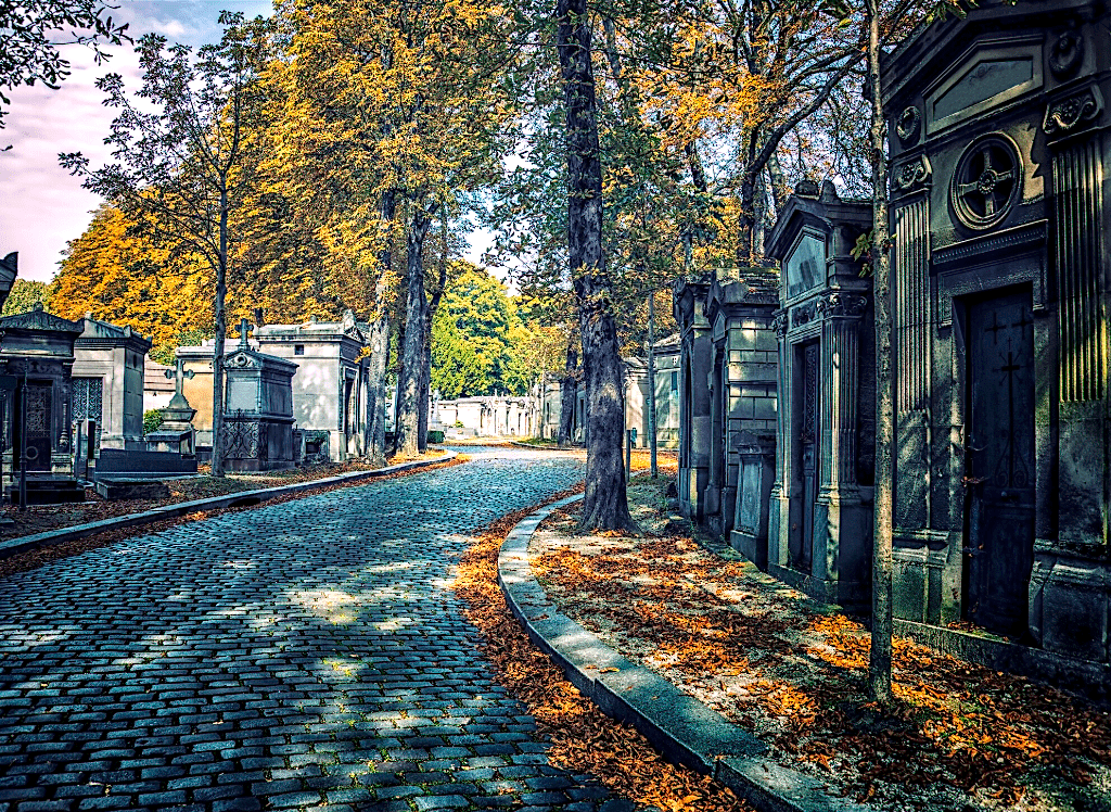 Pere Lachaise Cemetery is one of the grandest and most beautiful cemeteries in all of Paris.