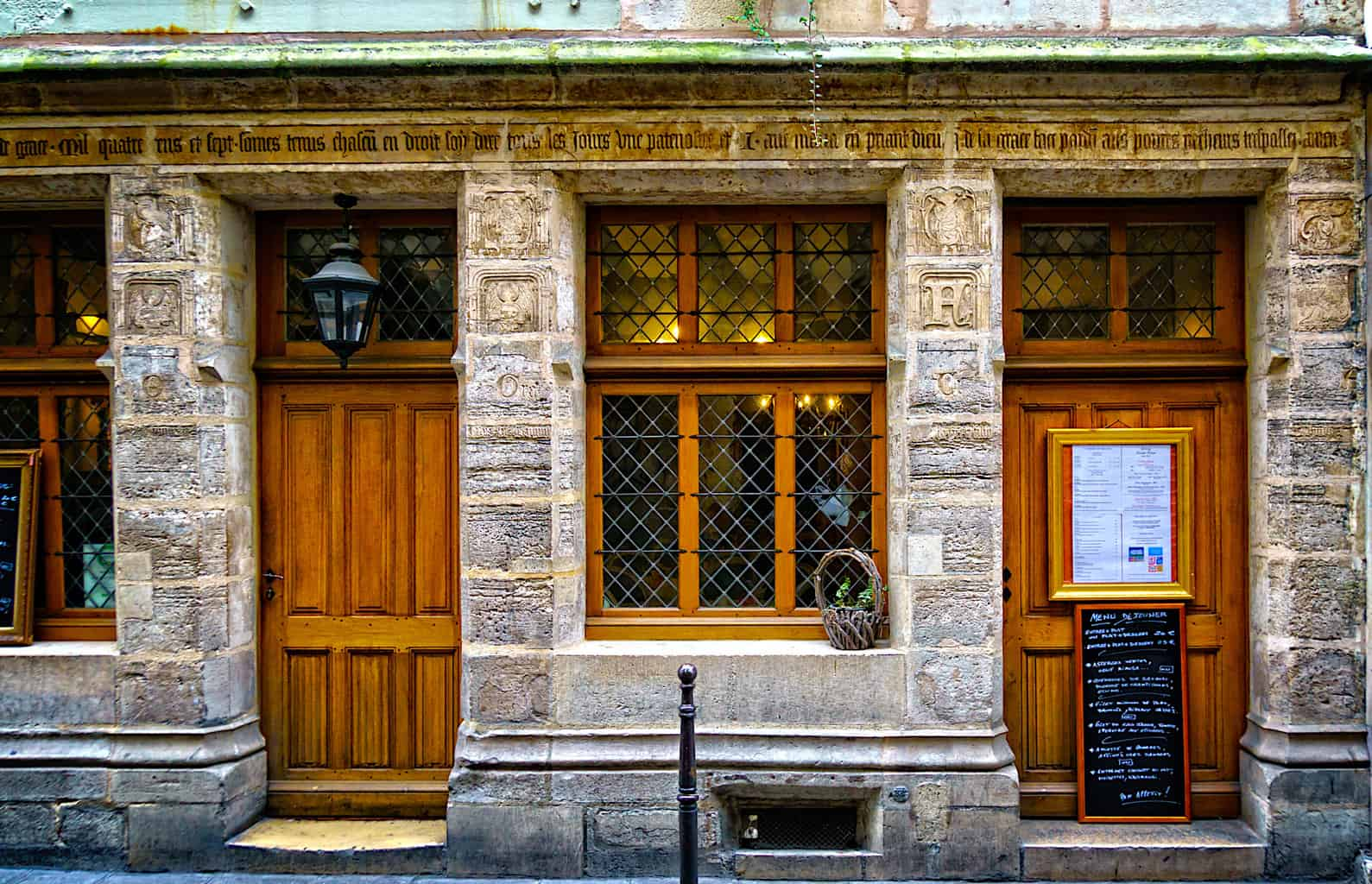 The former home of Nicolas Flamel is now the oldest stone house in Paris.