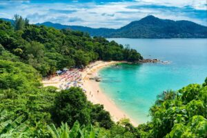 One of the many amazing beaches that you'll find in Phuket, Thailand.