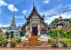 As you solo travel Thailand, you'll discover some amazing things, like these beautiful temples in Chiang Mai.