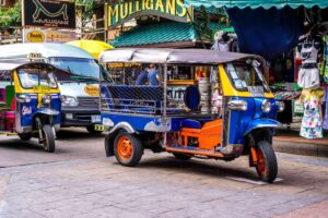 Honestly, as you solo travel Thailand, you should definitely ride in a tuk-tuk. At least once.