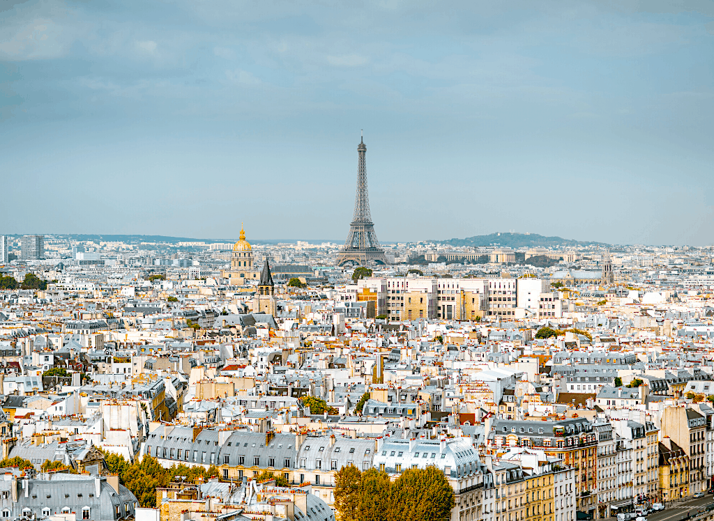 Take in the sweeping views of the Eiffel Tower from The Printemps Haussman Rooftop Terrace.