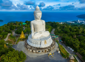 The iconic, Big Buddha in Phuket, Thailand.
