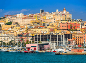 Cagliari, the capital city of Sardinia in Italy.