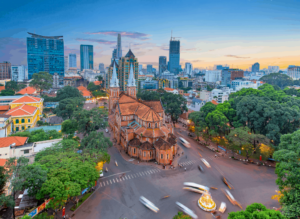 Vietnamese cities like Ho Chi MInh (AKA Saigon) are incredibly chaotic and can be difficult to navigate. So, be sure to download Grab to make traveling within cities a little easier.
