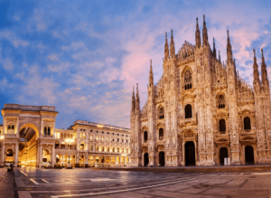 The iconic, Duomo di Milano in Milan, Italy.