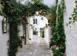 The quaint, small town charm of Ostuni in Puglia, Italy.