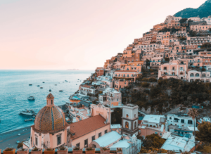 Some of the beautiful homes that you'll find along the Amalfi Coast in Positano, Italy.