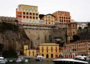 The quaint, Italian charm of Sorrento, a coastal town in Southwestern Italy.