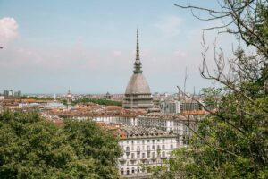 A view of the Mole Antonelliana in Turin, italy.