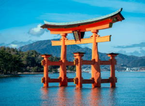 Use this 7 day Japan itinerary to explore some of Japan's top attractions, like the Itsukushima Shrine pictured here.