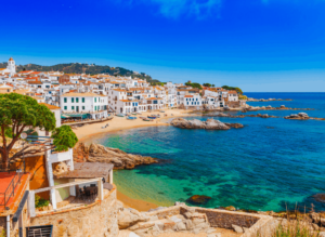 Some of the amazing beaches that you'll find both in and around Barcelona, Spain.