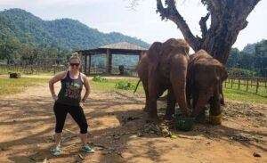 Hanging out with some of my favorite Elephant friends at Elephant Nature Park in Chiang Mai, Thailand.