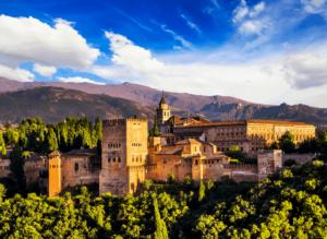 The beautiful Alhambra in Granada, Spain.