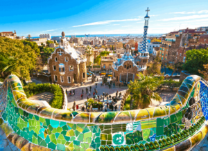Try to blend in and not look like a tourist when visiting iconic places like Parc Guell in Barcelona, Spain!