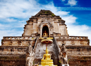 Tale some time to stroll through Chiang Mai's old town and explore some of the beautiful Buddhist temples there!
