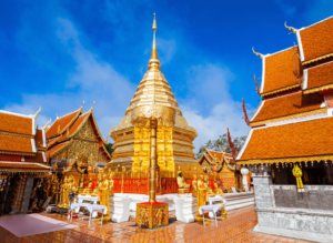 Start your 3 day Chiang Mai itinerary with a trip to Wat Pra Doi Suthep to watch the sunrise!