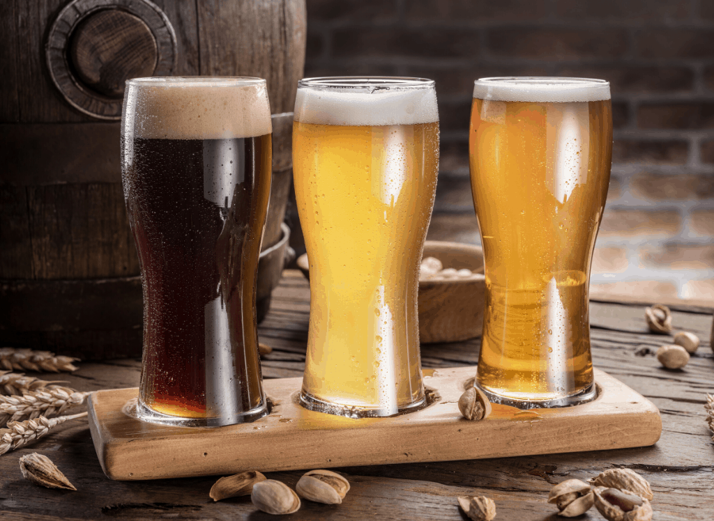 A trio of beers
