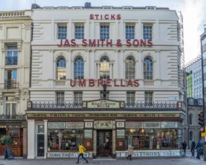 Enjoy the Victorian Era feel of James Smith and Sons Umbrellas when you pick up an umbrella that truly is one of the best things to buy in London.