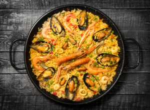 Some of the delicious Paella you'll find at La Fonda, one fo the best places to eat in Barcelona!